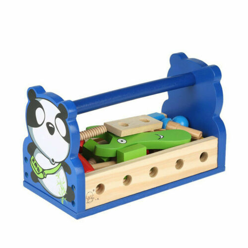 Children Educational Learning Activity Panda Removable Nut Toy Wooden Toy D