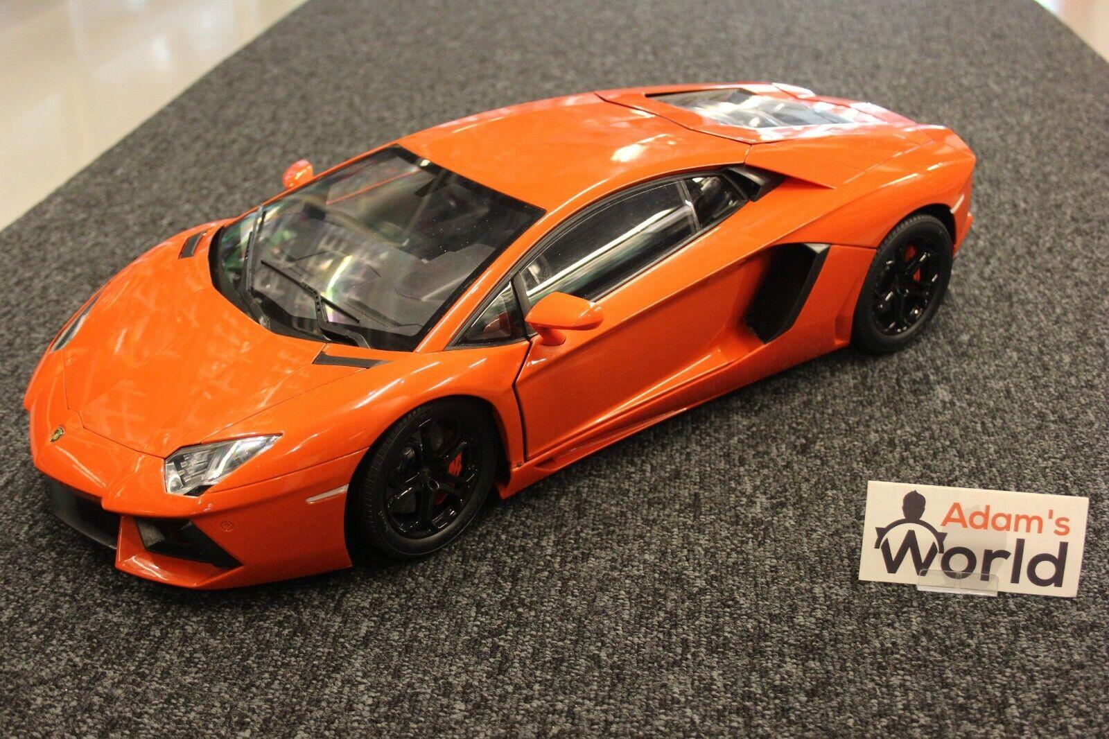 Pocher built kit Lamborghini Aventador 1 8 Arancio Argos   Metallic naranja