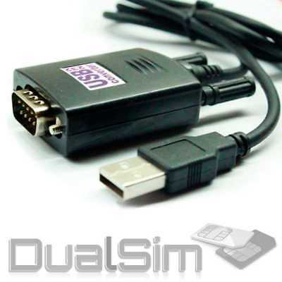 USB 2.0/1.1 Adapter Kabel auf RS232 Konverter RS-232 COM Port DB9 COM-Port D-Sub