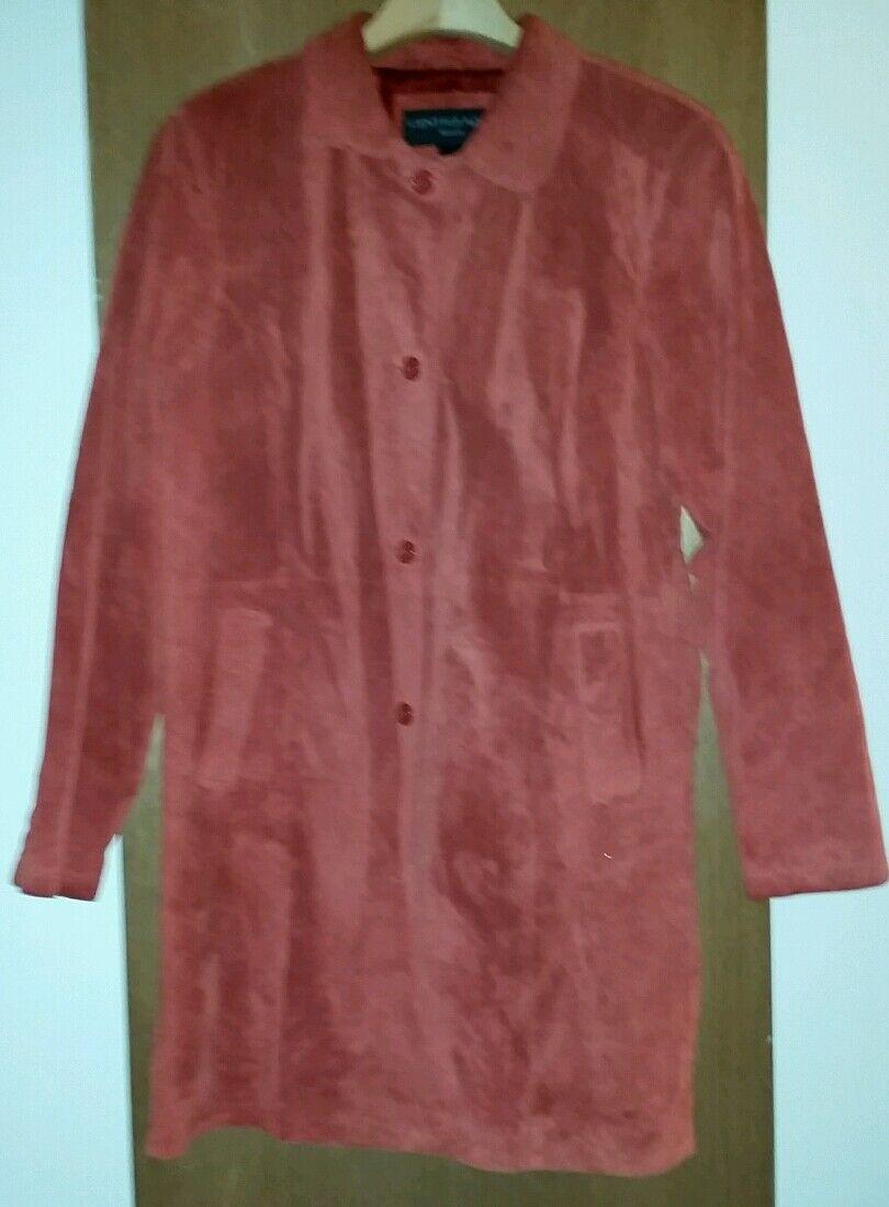 Centigrade Washable Suede 3 4 Length Coat XL