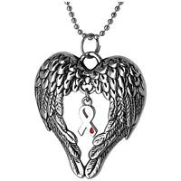 Wings Of An Angel Diabetes Awareness Necklace + Free Matching Pin