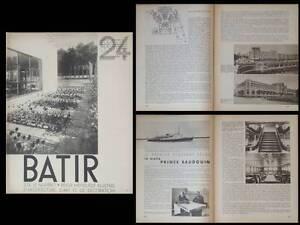 Appris Batir N°24 1934 Paquebot Prince Beaudouin, Michel Polak, Berlage, Canneel-claes Pour AméLiorer La Circulation Sanguine