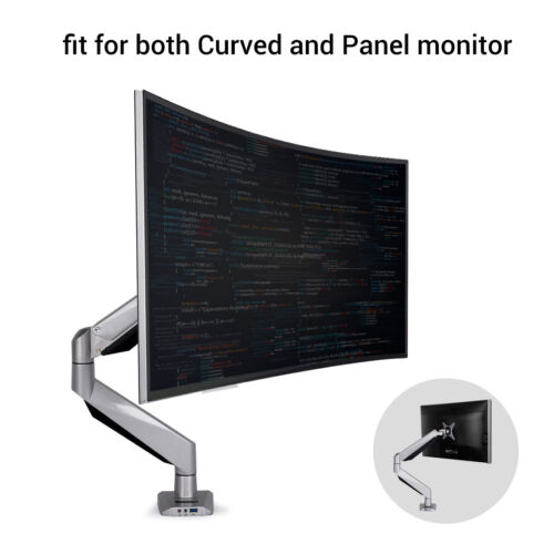 Loctek D7R Monitor Mount fits for both 10/'/'-34/'/' Curved and Panel Monitors