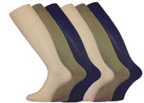 12 Pairs Men/'s 100/% Cotton Long Hose Luxury Ribbed Socks Black /& Colours UK 6-11
