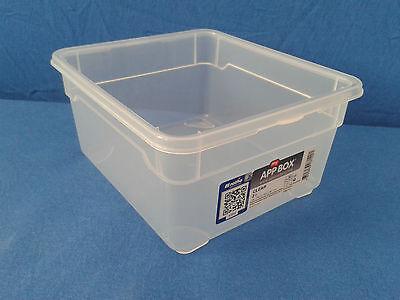 Rotho Clear Box Stapelbox zur Aufbewahrung verschiedene Größen und Farben Deckel