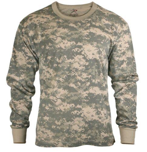 LS Kids T-shirt Long Sleeve ACU Army Digital Camouflage Tee Shirt Rothco 6775