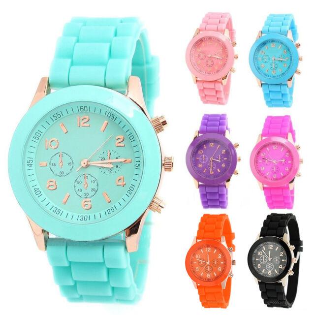 Unisex Silicone orologio Sportivo da polso da donna bambini con braccialetto Pow