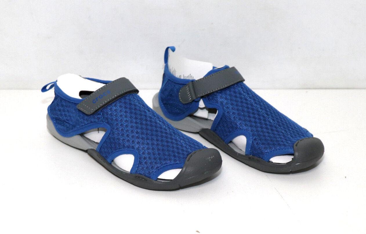 Crocs - Damen Swiftwater Mesh Sandale, Größe: EU 36/37 - blau