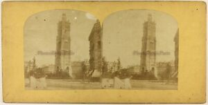 Francia Parigi Torre Smerlata c1860 Foto Stereo Vintage Albumina