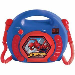 Spiderman-Lecteur-CD-avec-Microphones-avec-Poignee-Lexibook-Enfants