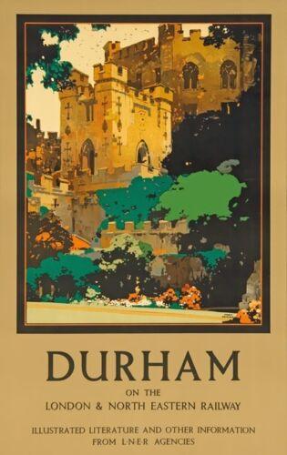 TX346 Vintage DURHAM LNER Railway British Travel Poster Re-Print A2//A3//A4