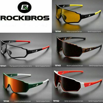 ROCKBROS Photochromatic Cycling Glasses Full Frame Sport Sunglasses Goggles