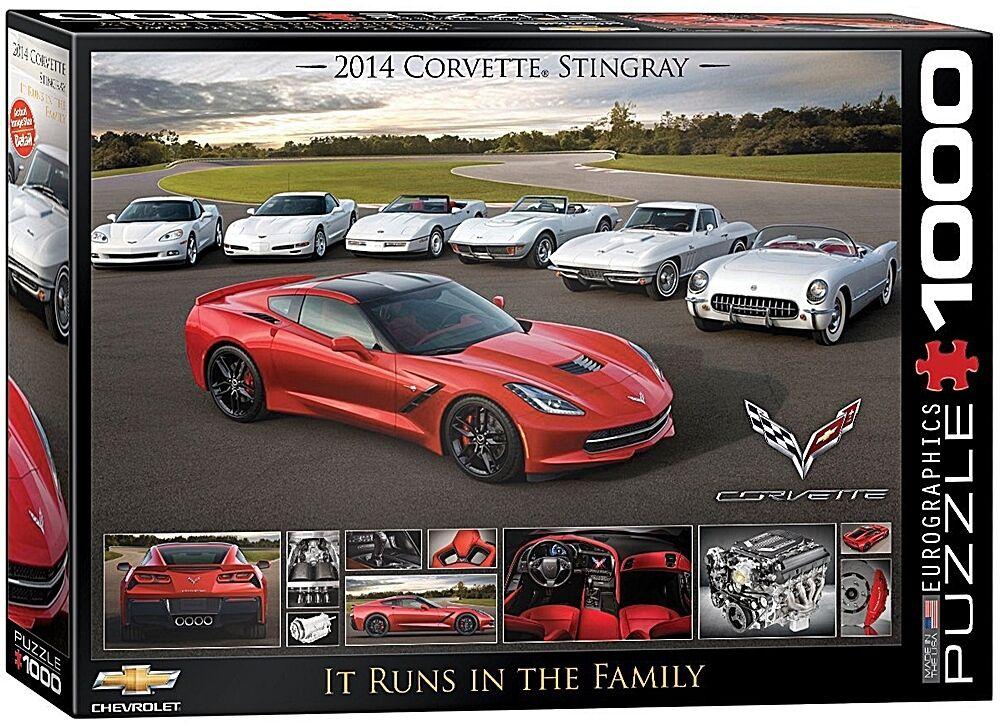 Chevrolet Corvette Runs in Familie Jigsaw-puzzle 1000 Teile 680mm 680mm 680mm x 490mm (PZ ) 514053