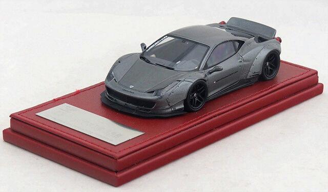 1/43 Hi-Story Ferrari 458 Liberty Walk LB Works 458 grigio w/ blk wheels LBA102GU