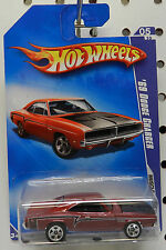RED MAROON 5 081 81 2009 1969 R/T SCAT PACK MOPAR CHARGER DODGE BOYS HOT WHEELS