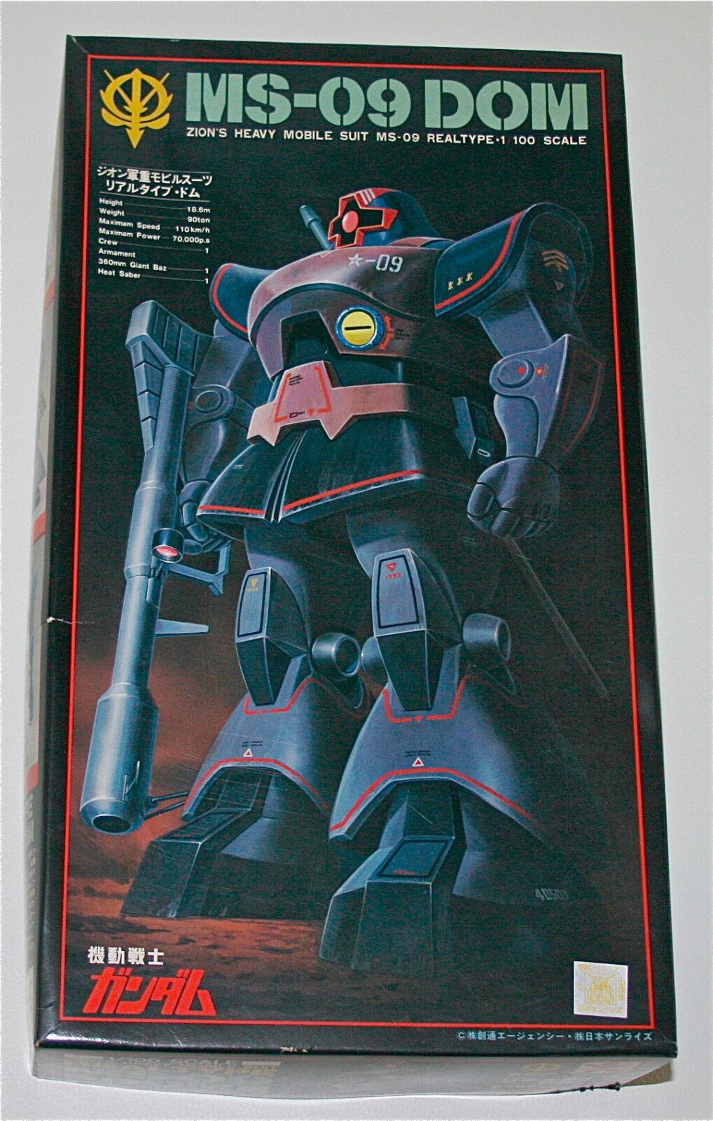 Vintage BANDAI Gundam 1 100 ZION MS-09 DOM Original Plastic Model Kit1980s JAPAN