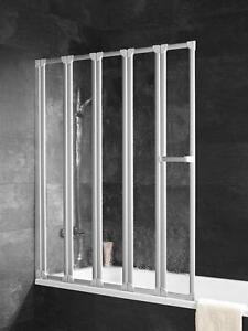 schulte komfort badewannenfaltwand 5 teilig d1315 auch ohne bohren ebay. Black Bedroom Furniture Sets. Home Design Ideas