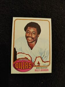 1976 Topps Billy White Shoes Johnson rookie football card Houston Oilers #223 EX