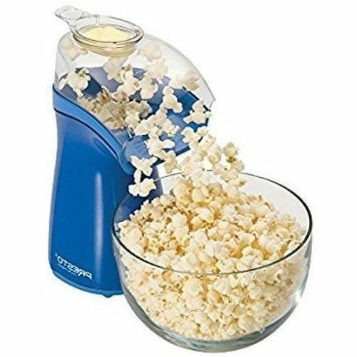 04841 Presto Blue Hot Air Electric Popcorn Popper Easy To Clean Butter Melter