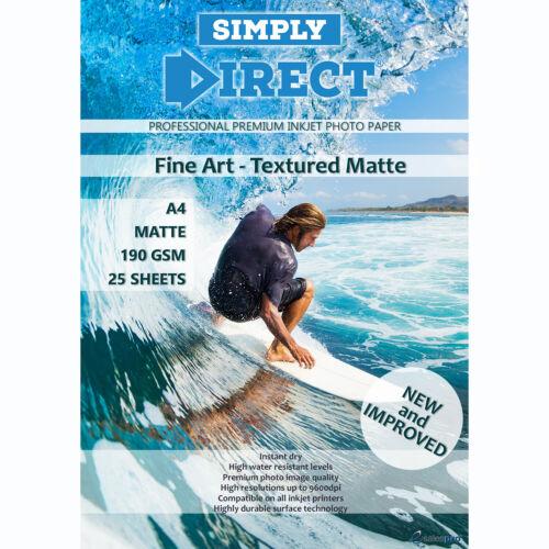 Multi Buy Deals A4 200gsm MATTE TEXTURED FINE ART Photo Printing Paper