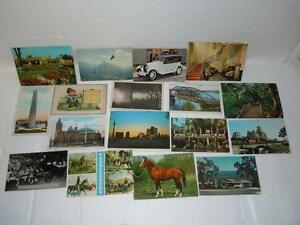 Postcard-Collectible-Lot-of-17-Vintage-Paper-Mailers-from-the-1970-039-s-Canada-Rare