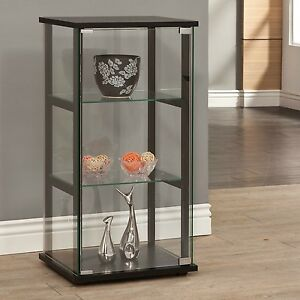 Image Is Loading Curio Cabinet Display Case Small Storage Shelf Trophy