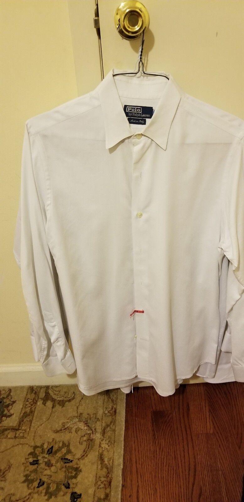 Polo Polo Polo by ralph lauren Weiß dress shirt Größe 16 32 Made in  301761