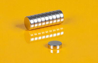 10 starke Neodym Magnete 10 x 3 mm runde Scheiben N45 10x3mm