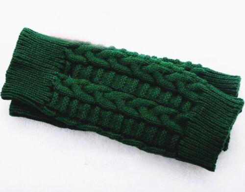Damen Stricken Handschuhe Fingerlose Warm Mitten Winterhandschuhe ohne Finger