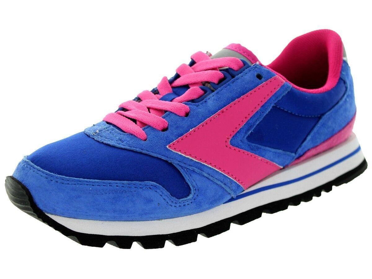 NIB BROOKS HERITAGE CHARIOT WOMEN 496 Blau PINK SUEDE RETRO RUNNING Schuhe 6 - 10