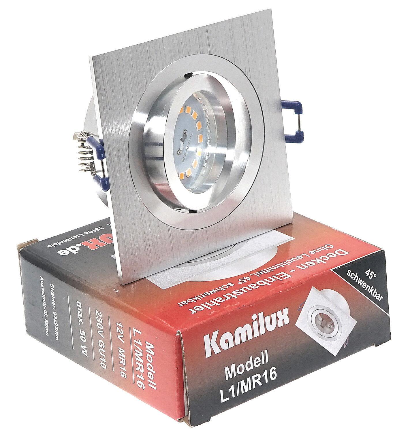 5W SMD-LED Einbaustrahler KANTO 5-15er Set 3-fach dimmbar Einbauleuchten Spot