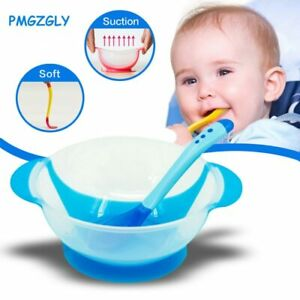 Self-Conscious Baby Learning Dishes Spoon Fork Bowl Set Suction Cup Tableware Eating Feeding Bowls & Plates Baby