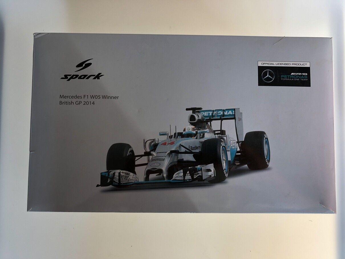 servizio premuroso 1 18 Spark modello Mercedes F1 F1 F1 W05 Winner British GP 2014  preferenziale