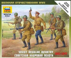 Soviet Infantry 1941 1:72 Figure Plastic Model Kit ZVEZDA