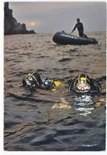 Cartolina Carabinieri subacquei, arti grafiche Alinari Baglioni, Firenze