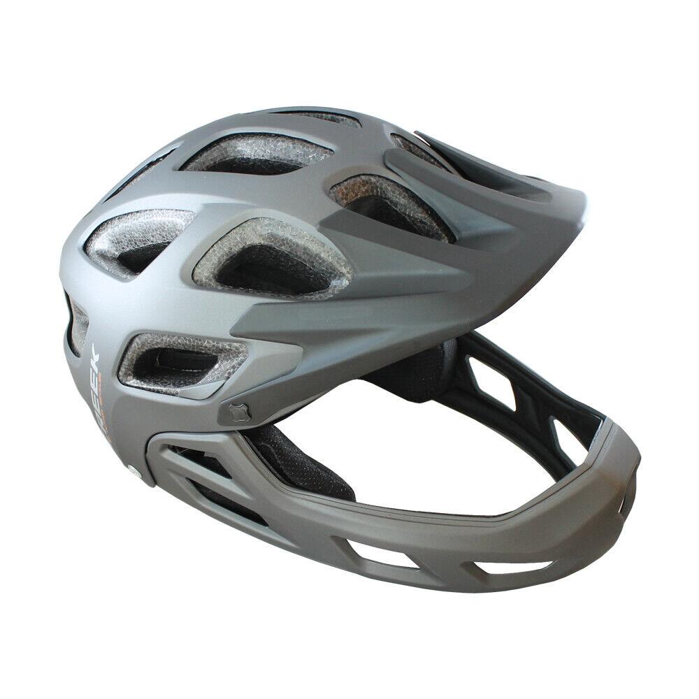 AUTHOR Fahrradhelm Fullface Creek FF Größe L 57cm-60cm BMX Dirt Helm grey