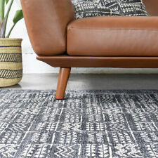 NEW Large Tribal Rug In Charcoal by Collective Sol