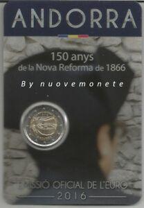 "2016 ANDORRA 2 EURO  COINCARD "" Riforma del 1866 """