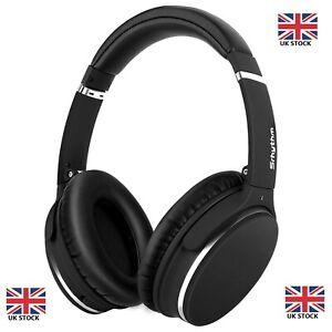 Los-Auriculares-con-cancelacion-de-ruido-Bluetooth-Inalambrico-Microfono-sobre-las-orejas-de-cuero