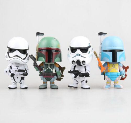 Star Wars Cosbaby Stormtrooper Boba Fett Cute Bobble-Head PVC Figure New In Box