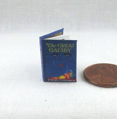 Buono The Great Gatsby Readable Casa Delle Bambole Miniatura Libro 1:12 Scala Libro Per Godere Di Alta Reputazione Nel Mercato Internazionale