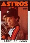 1986 Topps Harry Spilman #352 Baseball Card