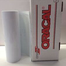 "Oracal 651 1 Roll 12"" X 30 Ft. White Gloss #010 Vinyl for Craft Sign Cricut"