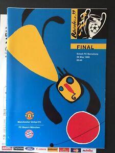 MANCHESTER UNITED V BAYERN MUNICH 1999 CHAMPIONS LEAGUE FINAL VGC