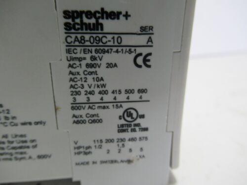 SPRECHER SCHUH CONTACTOR SER A CA8-09C-10