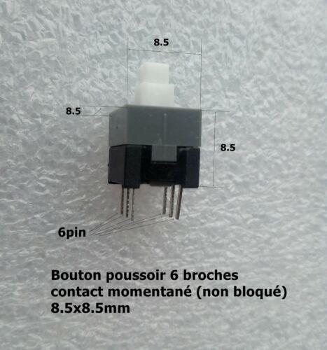 8.5*8.5 mm bouton poussoir contact temporaire non bloqué de 6 broches .F22.2