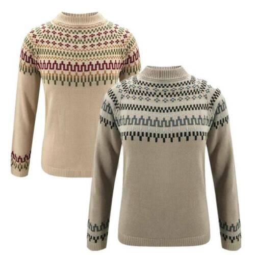 Women Geometric Floral Knitwear Warm Sweater Ladies Causal Pullover Jumper Tops