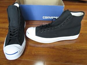 9e6d738910dd NEW Converse Jack Purcell Signature HI Shoes MENS 8.5 Black Canvas ...