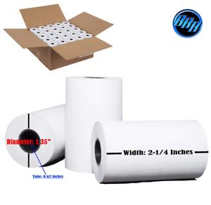 Thermal Roll Paper Cash Register Receipt 50 Rolls Credit Card Reciept 2 1//4