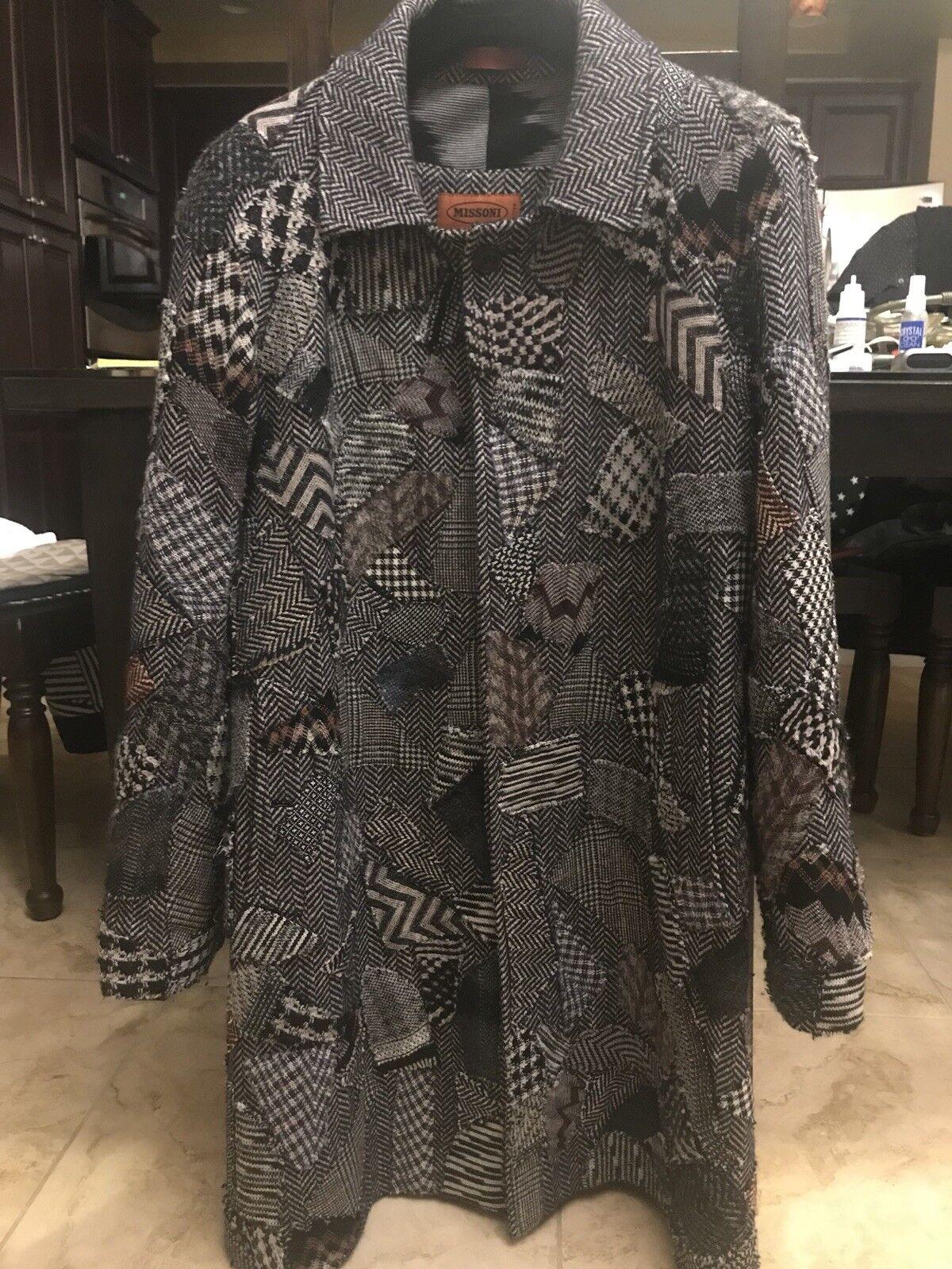 Missoni  Herren Overcoat Sz52 Was6k One Of A Kind Collectors Item Perfect Condition
